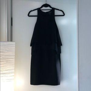 CLUB MONACO black short layered dress